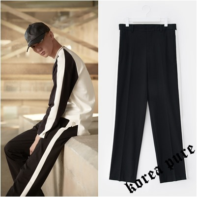 【8 X GD`s PICK】Line Contrast Slacks GD Collabo / Black
