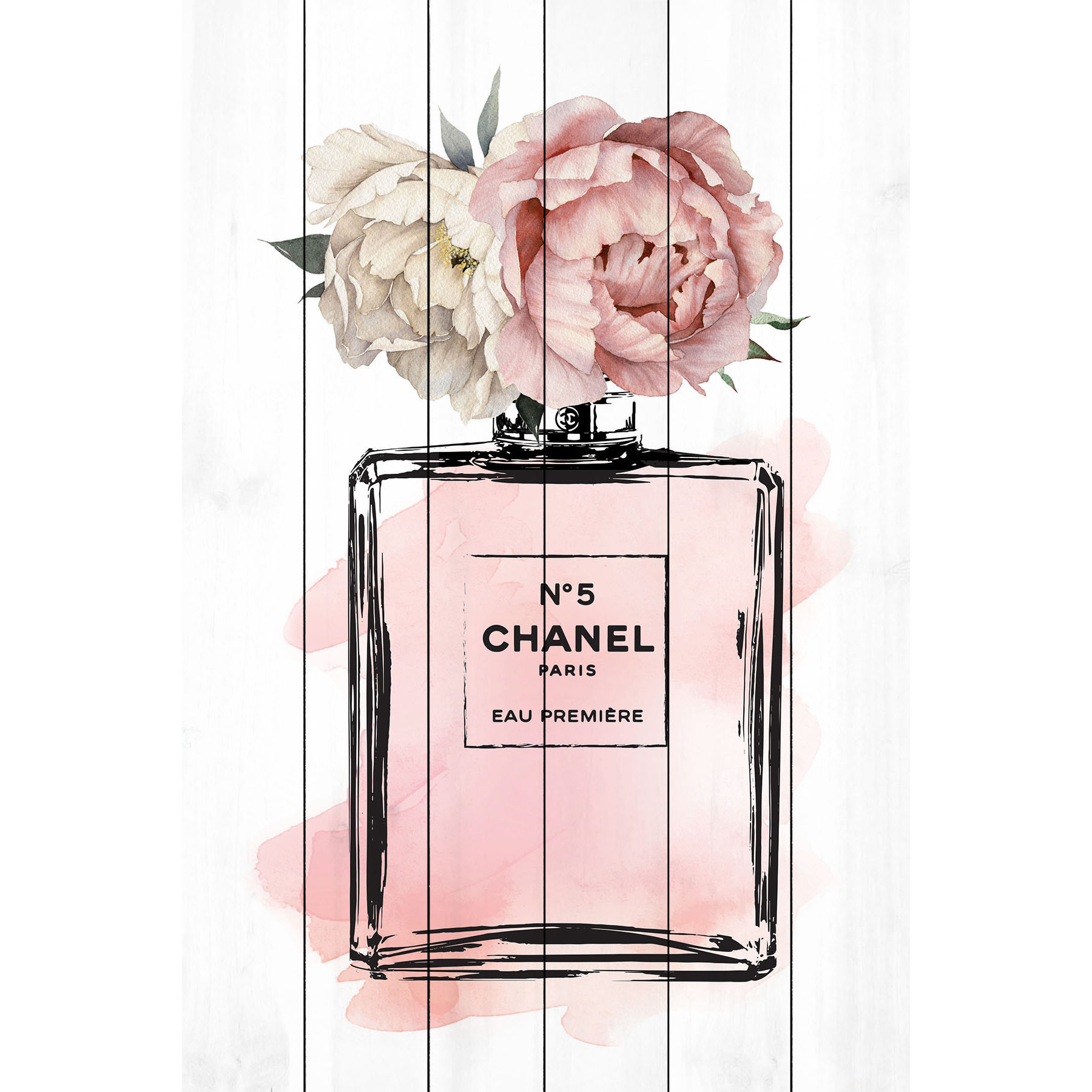 Marmont Hill Chanel Floral ウッドパネルアートボード 5サイズ