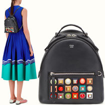 FE1355 BACKPACK WITH MULTICOLOR STUDS