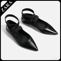 ★ZARA★ザラ  FLAT LACE-UP LEATHER SHOES