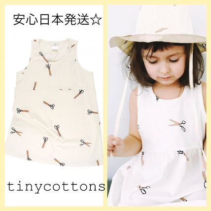 2017SS☆安心日本発送☆tinycottons scissors SLdress 3m-8Y
