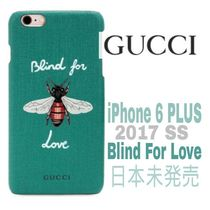 先取り★Blind 4 Love【送料込・GUCCI】iphone6 PLUS 蜂BEE★緑