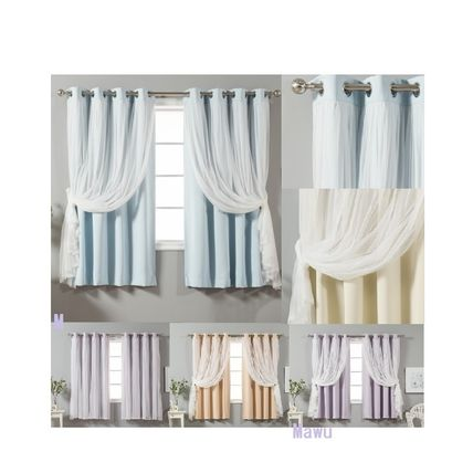 Shear lace with refined curtains 2 pairs 5 color chosen 160
