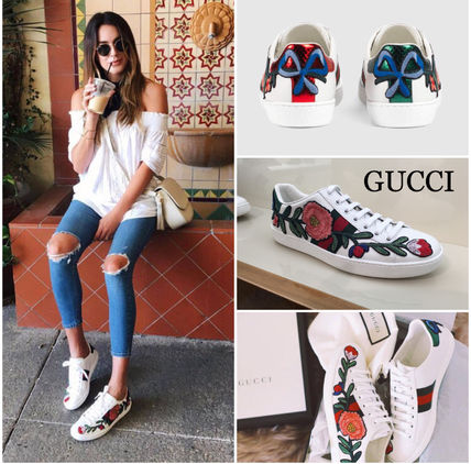 GUCCI floral inspired sneakers *