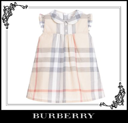 17th SS BURBERRY check dress and bloomers set 3-24 m