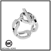 送料&関税込♪ Michael Kors☆ PAVE CRYSTAL SILVER RING