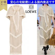 関税支払い済み Shawl Pleated Tiered Dress LOEWE(ロエベ)