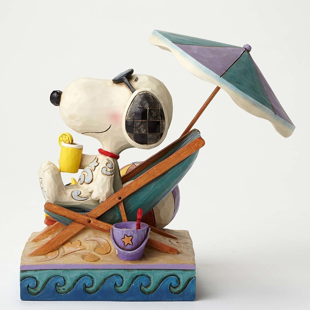 Peanuts★Snoopy and Woodstock at Beach Figurine by Jim Shore