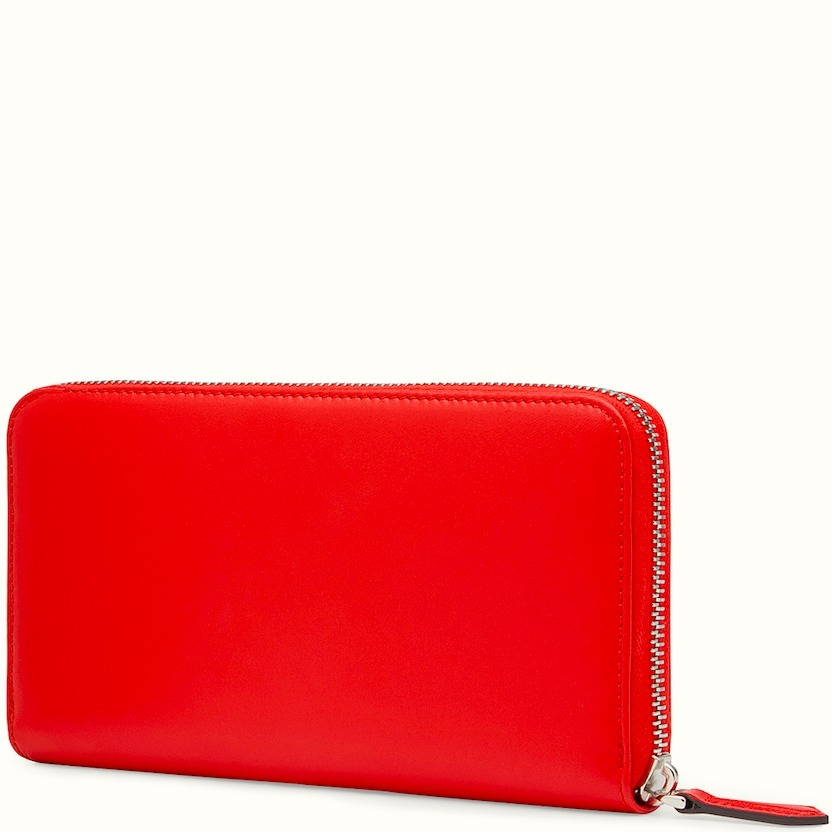 FE1363 ZIP AROUND WALLET WITH STUD & RING