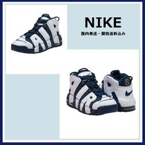 ★ NIKE ★ AIR MORE UPTEMPO キッズ ハイカット スニーカー NVY
