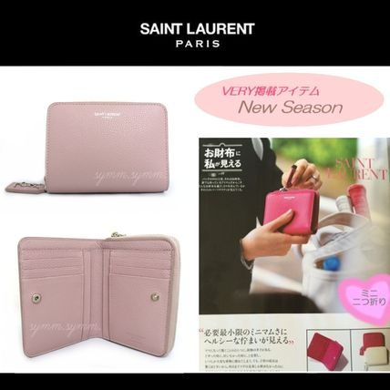 Rare SAINT LAURENT bifold Wallet Antic Rose