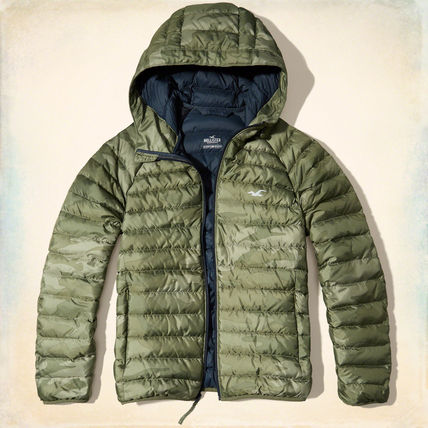 【国内即発】LIGHTWEIGHT DOWN PUFFER JACKET★OLIVE PRINT