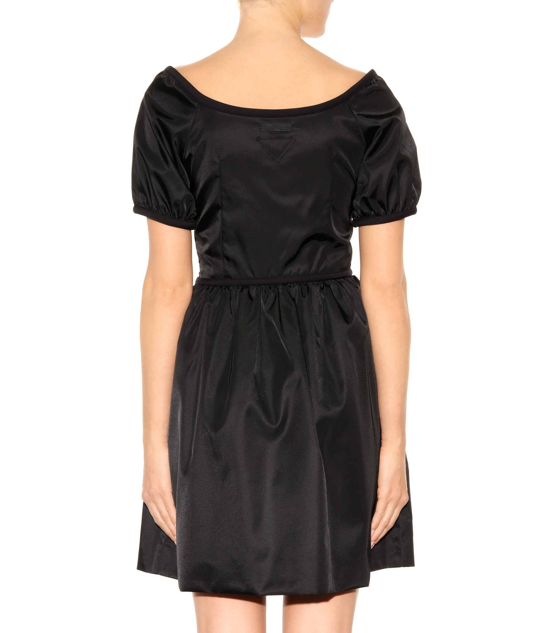 PR355 NYLON GABARDINE FLARE DRESS