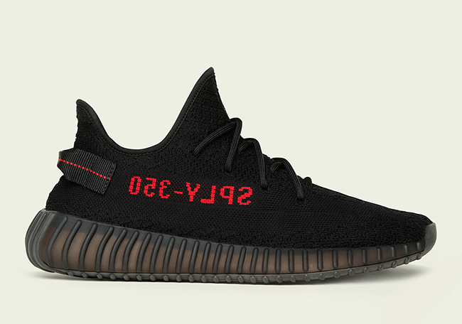 SS17 ADIDAS YEEZY BOOST 350 V2 BLACK RED KANYE WEST CP9652