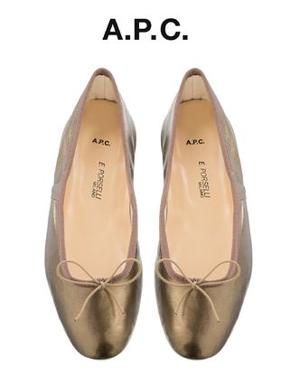 France from A.P.C. sold out Porselli ballet shoes BRONZE