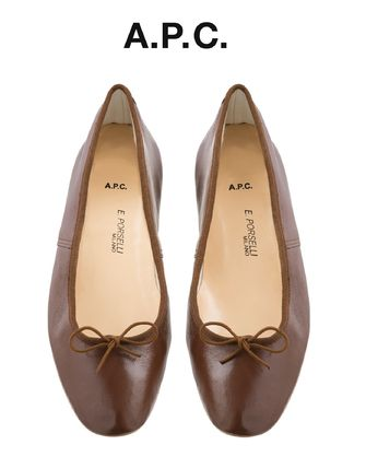 France from A.P.C. popular Porselli ballet shoes chestnut