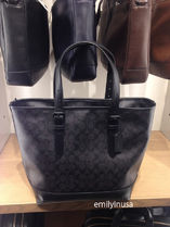COACH★2月新作★メンズ HENRY TOTE IN SIGNATURE F57566*BLACK