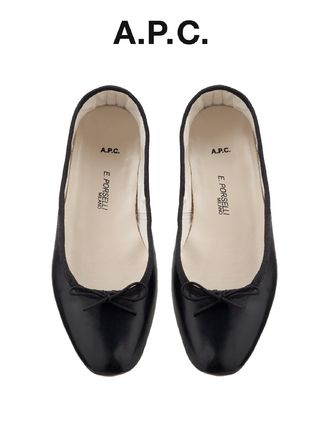 France from A.P.C. sold out Porselli ballet shoes black