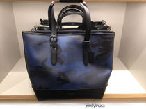 COACH★2月新作★メンズ HENRY TOTE IN INDIGO CAMO F57565