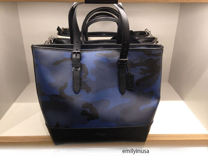 COACH men's HENRY TOTE IN INDIGO CAMO F57565