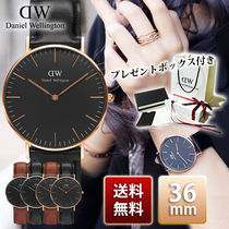Daniel Wellington Classic Black 36mm Rose Gold Silver 腕時計