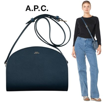 France issued A. P. C. half moon bag PB embossed leather