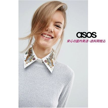 ASOS Tiger Embroidered Collar