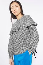 《フリル&ギンガム♪》☆TOPSHOP☆Ruffle Gingham Top