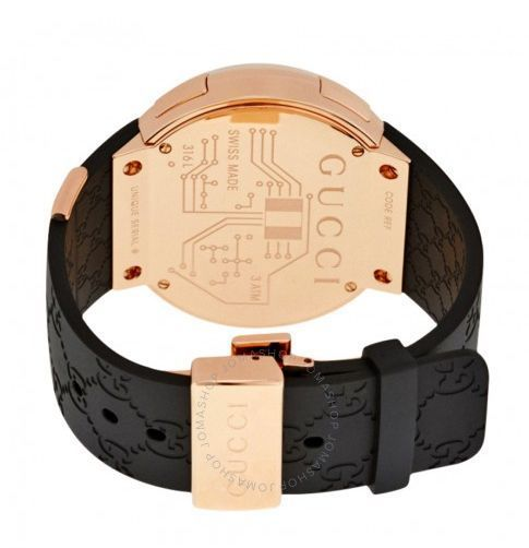 関税送料込み GUCCI I- Black Rubber Men's Watch