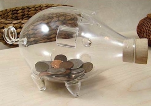 Glass Piggy Bank 【Small】