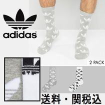 adidas Originals Thin クルーソックス グレー Heather AZ0163