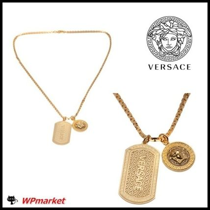 Super popular VERSACE _ double Dog tag necklace