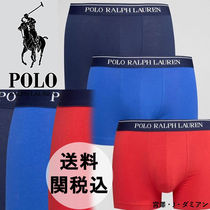 Ralph Lauren 3 Pack Stretch Cotton Trunks With Stripe♪