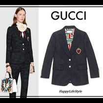RUNWAY◇embroidery付き single-breasted ジャケット◇GUCCI