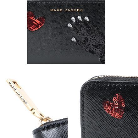 ☆MARC JACOBS☆ SEQUIN HAND TO HEART  Continental 長財布♪