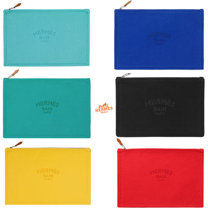 Yachting HERMES GM Flat clutch each color cotton canvas