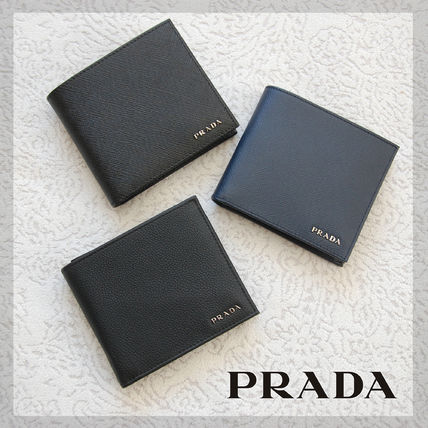Holiday Giveaway promotion at men's PRADA bifold wallet