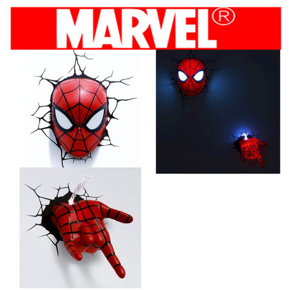 Marvel play hearts-packed wall 3D Deco light Spider-man