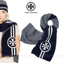 ★在庫あり!ヤマト発送★TORY BURCH REVERSIBLE STRIPE SCARF