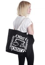 OBEY(オベイ) エコバッグ ショッピングバッグ Behave Yourself ☆ OBEY