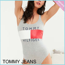 【Tommy Jeans】新作☆ グレー '90s ロゴ ボディスーツ☆