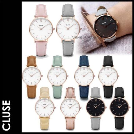 3-7 days arrival / & CLUSE 33 mm/Minuit Rose Gold