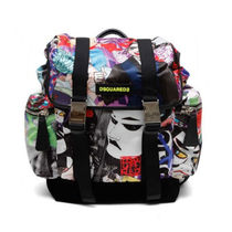 送料関税込!2017SS新作 DSQUARED2 MANGA PRINTED BACKPACK