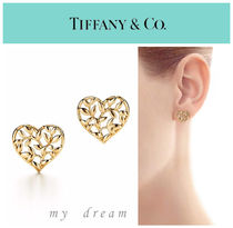 【Tiffany & Co】Paloma Olive Leaf Heart Earrings in gold