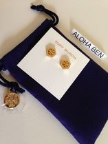 TORY BURCH HEX LOGO STUD EARRING / ピアス 国内即発送