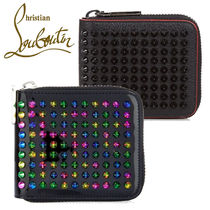 ☆Christian Louboutin☆Empire Square Spiked Wallet