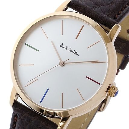 Paul Smith watches mens MA gold brown leather P10101