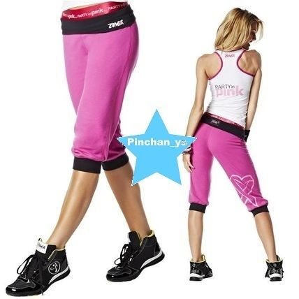 Rare ZUMBA GROOVE FOR THE CURE LOGO STAMP CAPRI