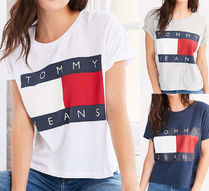Tommy Jeans For UO '90s Tee★ユニセックス ロゴ 国内発