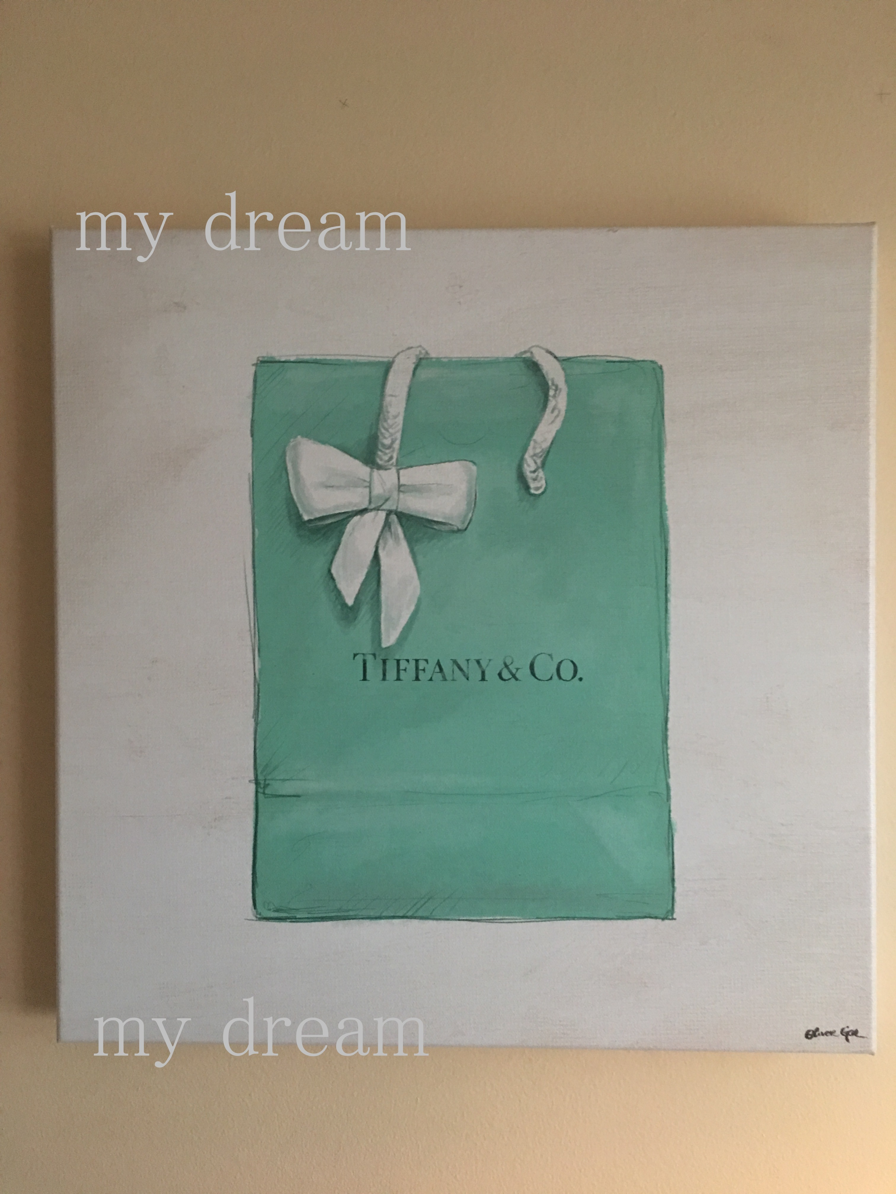 Oliver Gal 'Jewelry Shopping Bag ' TIFFANYモチーフ